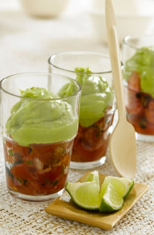 Tomato Tartar with Spicy Guacamole