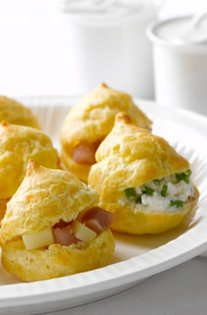 Duo of Cheese Pastry Puffs